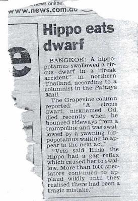 La hipopótamo Hilda se come al Enano