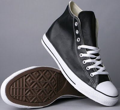 All Star Black Leather hi