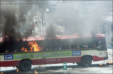 Bangkok Bus Hijacked