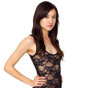 Nylon Spandex Stretch Floral Lace Bodysuit