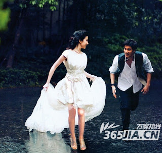 Crystal Liu and Wang Lee Hom