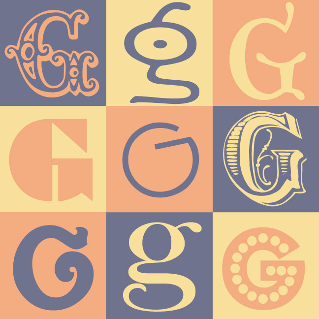 Inkblot Paper Designs: The Letter G