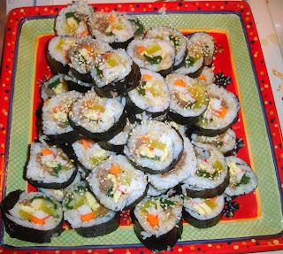 how to make kimbap rice