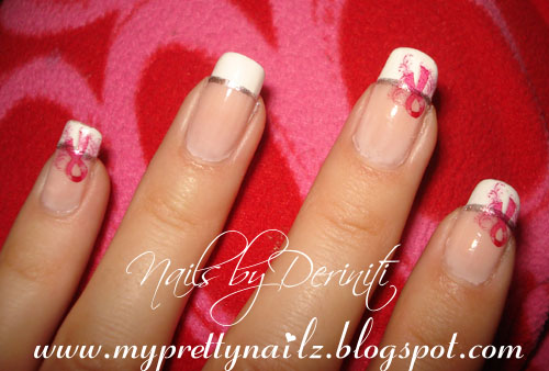 Sweet Ribbon Nail Art Nail Art Pinterest