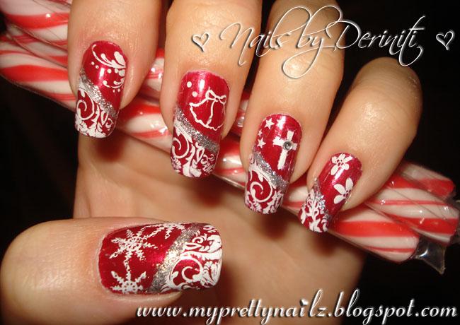 """... nail art"""" """"holiday nails"""" """"christian nail art"""" """"cross nail art"""" """"red"""