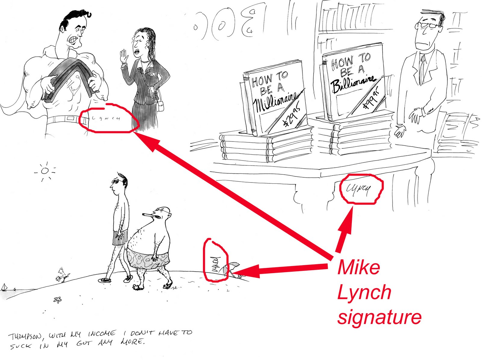 Mike Lynch Cartoons: The Business of Cartooning: Your Signature