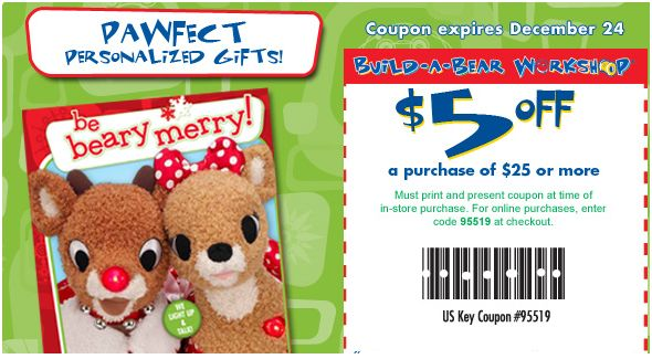photo relating to Build a Bear Printable Coupon identify Develop-a-Undergo: $5 Off $25 Printable Coupon