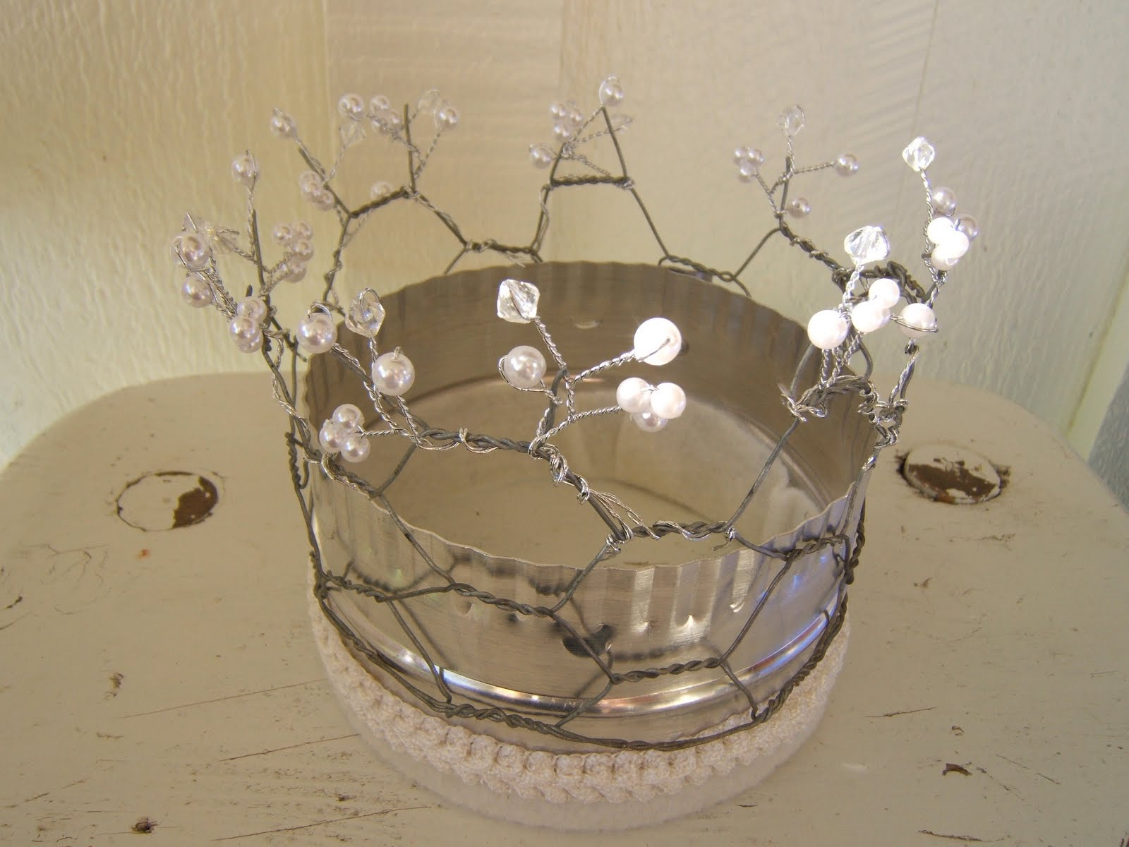 Dear Molly Anne: Queen of Junque - an upcycled crown
