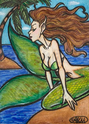 Fionn: Mermaid ACEO