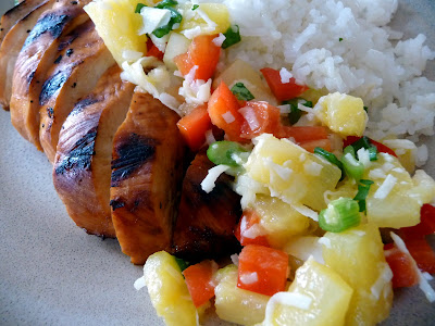 with caribbean salsa caribbean chicken pineapple salsa pineapple salsa ...