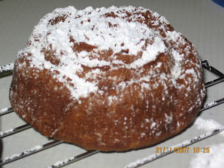 Melange: Applesauce Sour Cream Cake