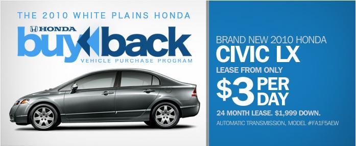 White Plains Honda Buy Back Program