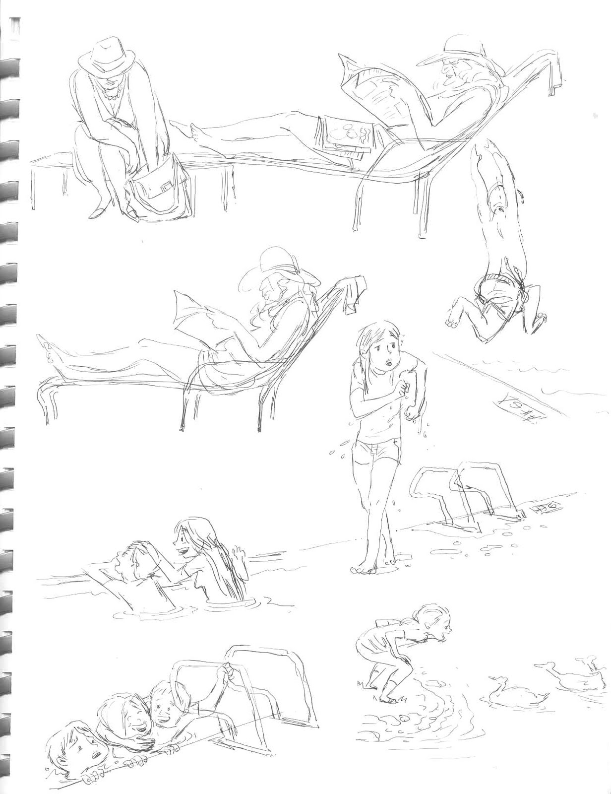 Terry song more swimming pool sketches for Swimming pool sketch