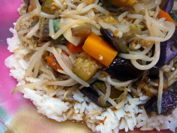 Cocina light arroz con vegetales salteados en especias wok - Arroz con verduras light ...