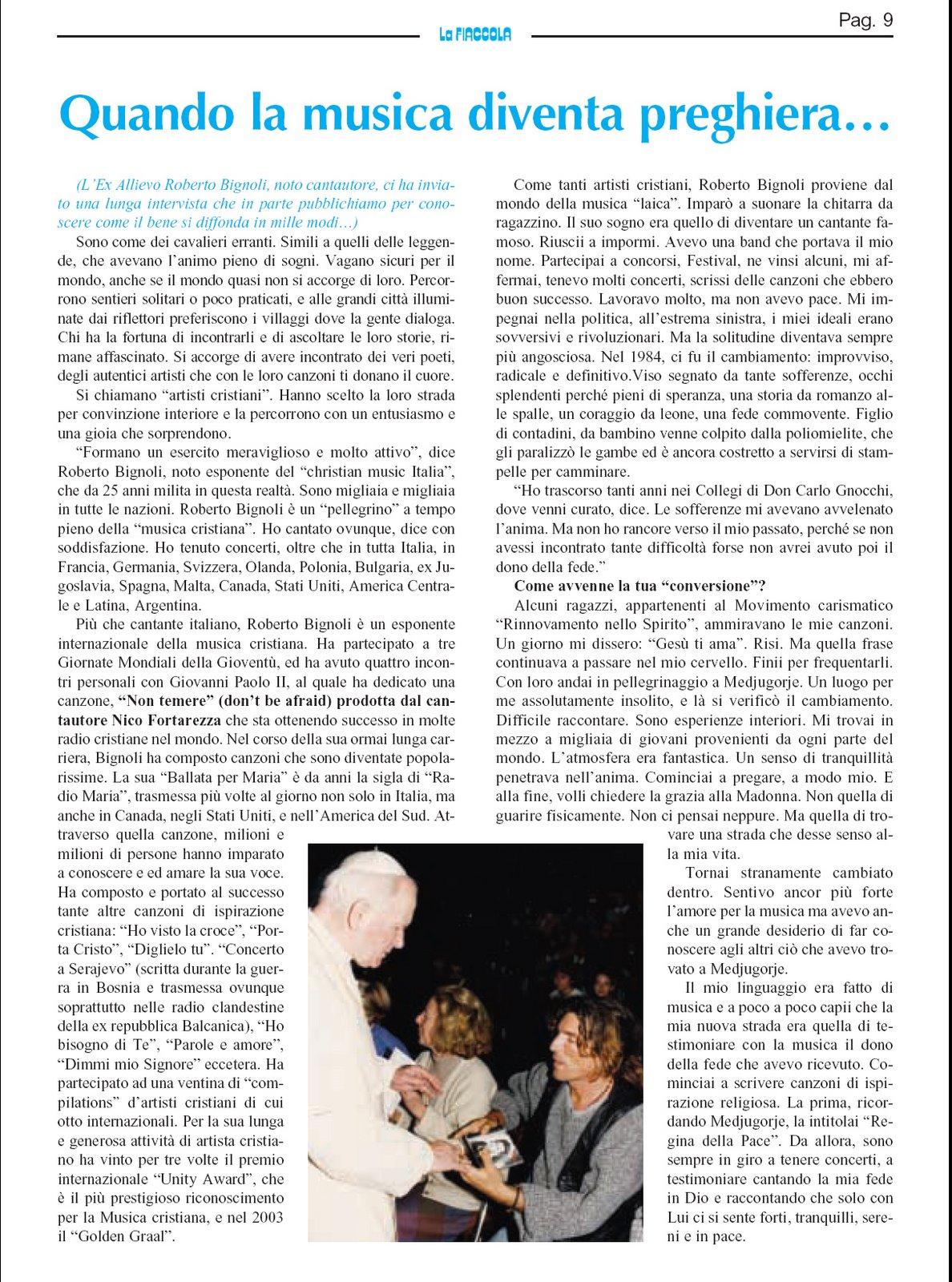 La Fiaccola mensile 2007