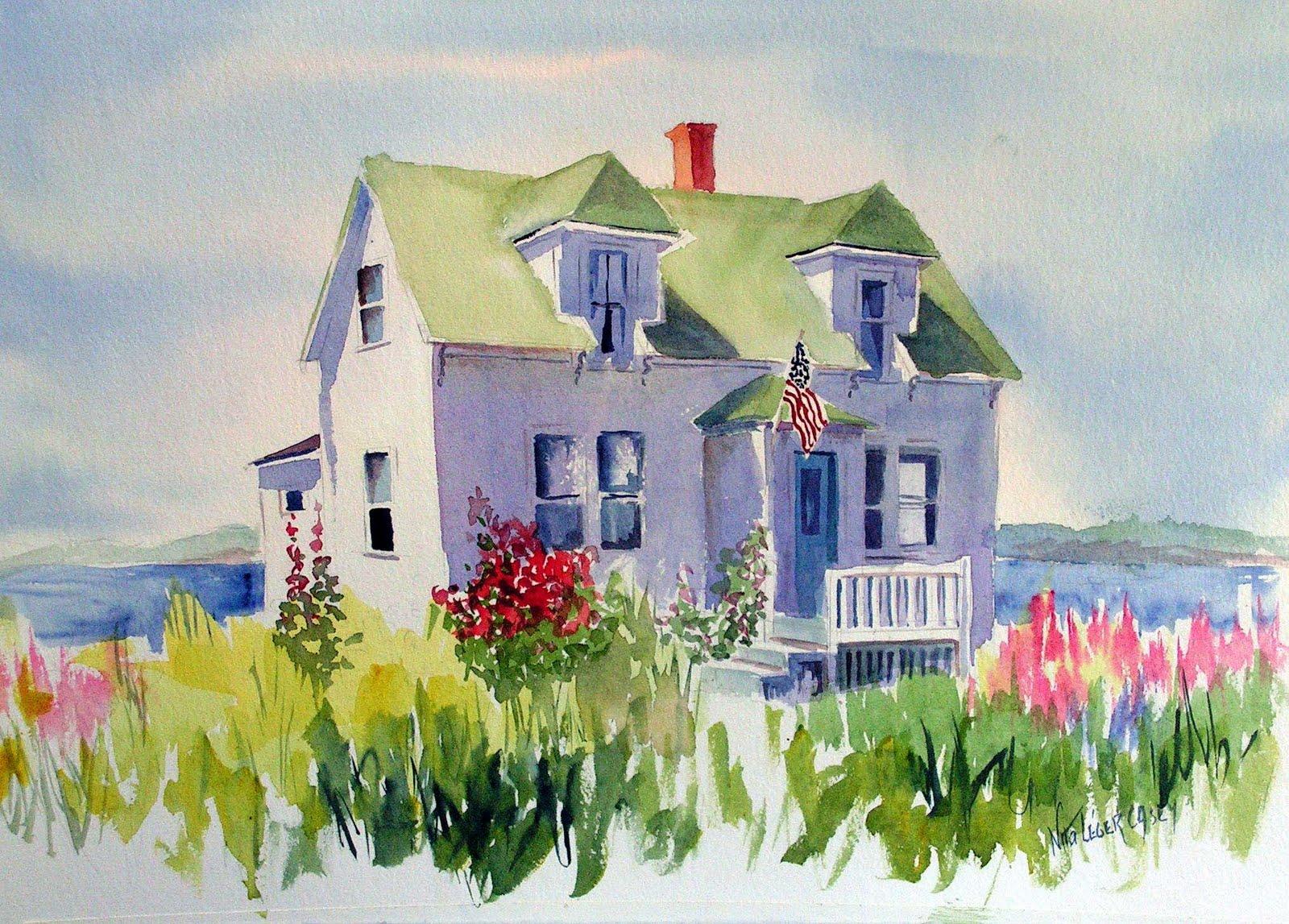 Nita l ger casey november 2010 for Watercolor cottages