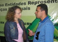 Luciana Genro e Sargento Araújo