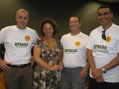 Deputado Sgt Soares e Senadora Ideli Salvatti em apoio aos praças de Santa Catarina.