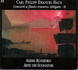 Bach CPE - Concerti a flauto traverso obligato II - Kossenko, Arte dei Suonatori (flac)