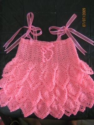 Crochet Thread Baby Dress Pattern