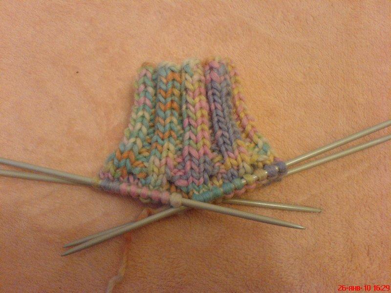 Вязание спицами самых простых пинеток для только начинающих