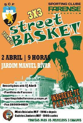 Torneio Street Basket 3X3 2 de Abril em Faro