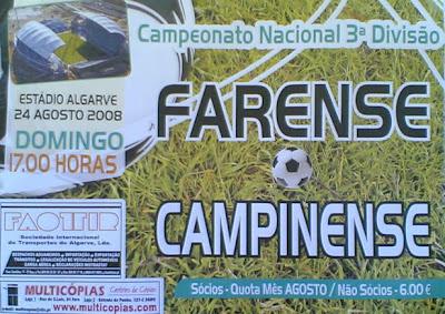 Farense-Campinense 1ª Jornada Campeonato Nacional da 3ª Divisão
