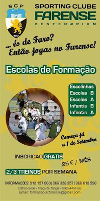 Escolas de Formação do Sporting Clube Farense 2010/11