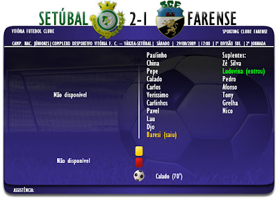 Setubal 2-1 Farense  Campeonato Nacional de Júniores