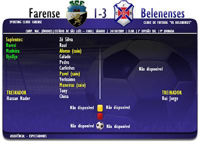 Campeonato Nacional Júniores 2009/2010  Zona Sul  Farense 1-3 Belenenses