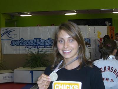 Foto da atleta medalhada