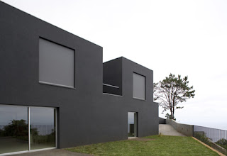 Best house Seaside Home Design in Portugal simply black and white
