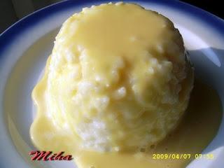 Budinca de orez cu caramel