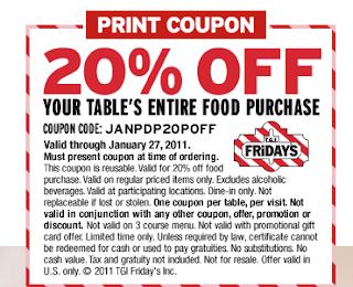 Tgi fridays printable coupons march 2018