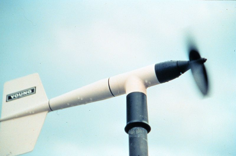 Windmill Anemometer. Courtesy NOAA/NSSL ...