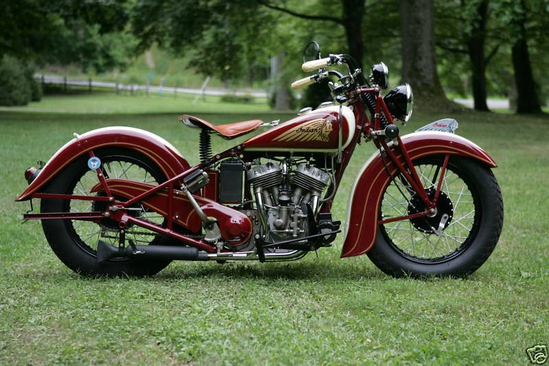 Belinfante Indian Motorcycles 1937 Indian Sport Scout 100 Correct