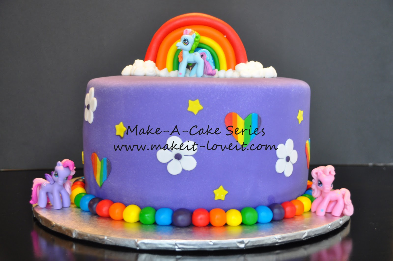 Make A Cake Series My Little Pony And Rainbow Cookies It Love