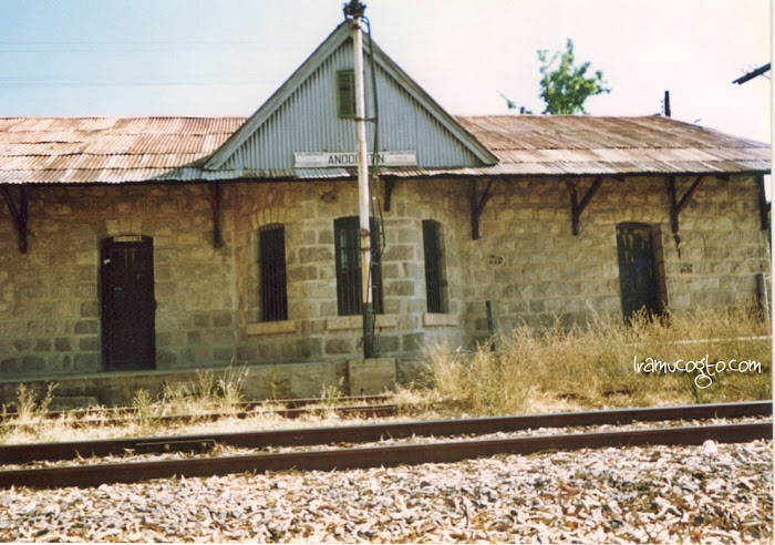 La estación de tren en Andocutin, Gto.
