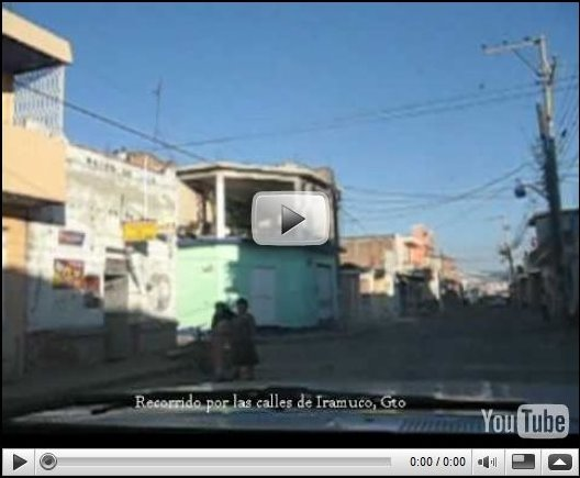 Recorrido por las algunas calles de Irámuco, Gto.