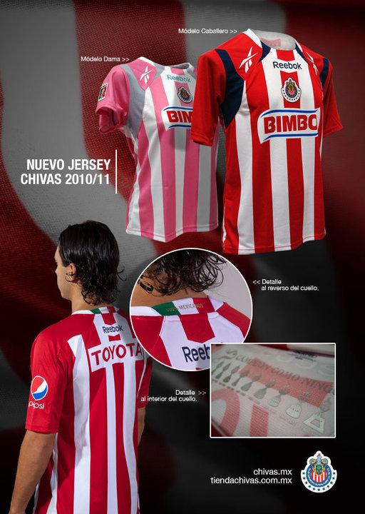 Chivas nuevo jersey 2010 2011
