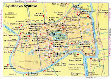 map of Ayutthaya