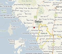 Map of Satun