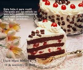 Parabéns Ligia por mais um aniversário