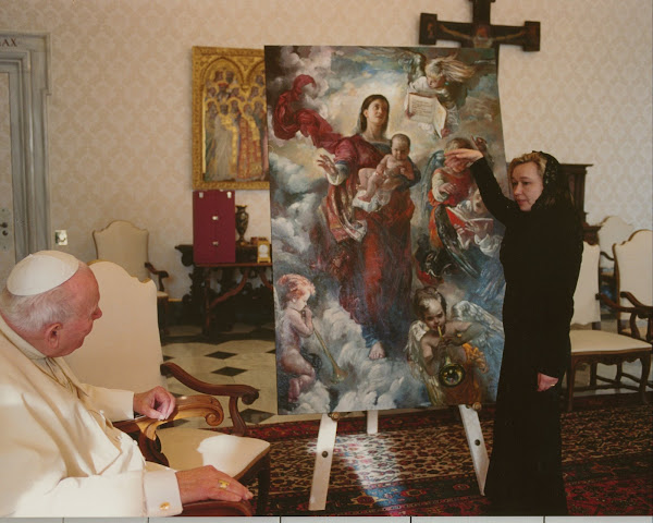 John Paul II with Our Lady of Light