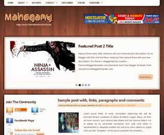 Mahogany Blogger Template
