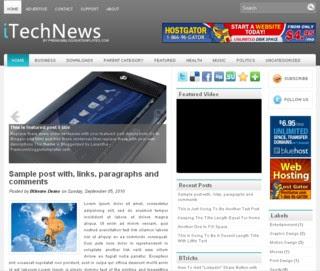 iTechNews Blogger Template