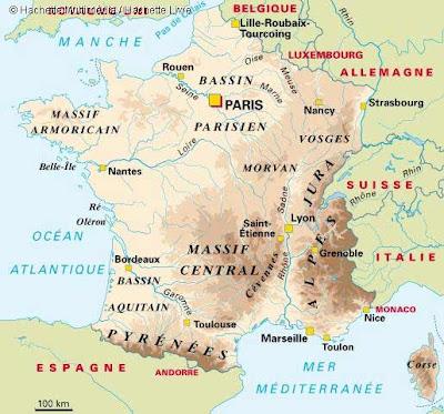 Geographie de la France: Régions, Relief et Hydrographie