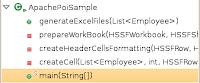 ApachePoiSample.java class methods