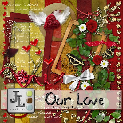 "Scrapbook Freebie ""Our Love"" from Jaelop Designs"