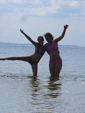 Playing in Lake Victoria with Heather